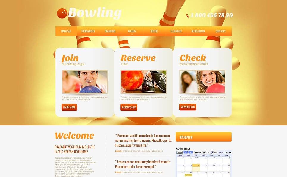 Modello Moto CMS HTML  #46745 per Un Sito di Bowling New Screenshots BIG