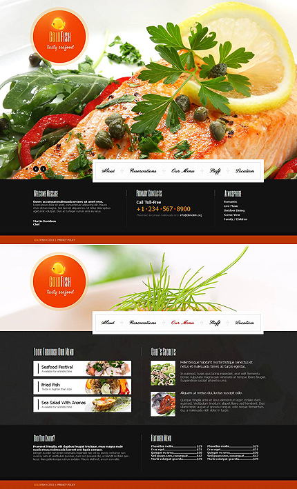 ADOBE Photoshop Template 46746 Home Page Screenshot