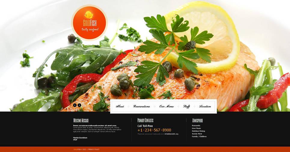 Restaurant Website Template with Background Slider - image