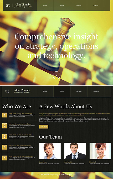 ADOBE Photoshop Template 46751 Home Page Screenshot