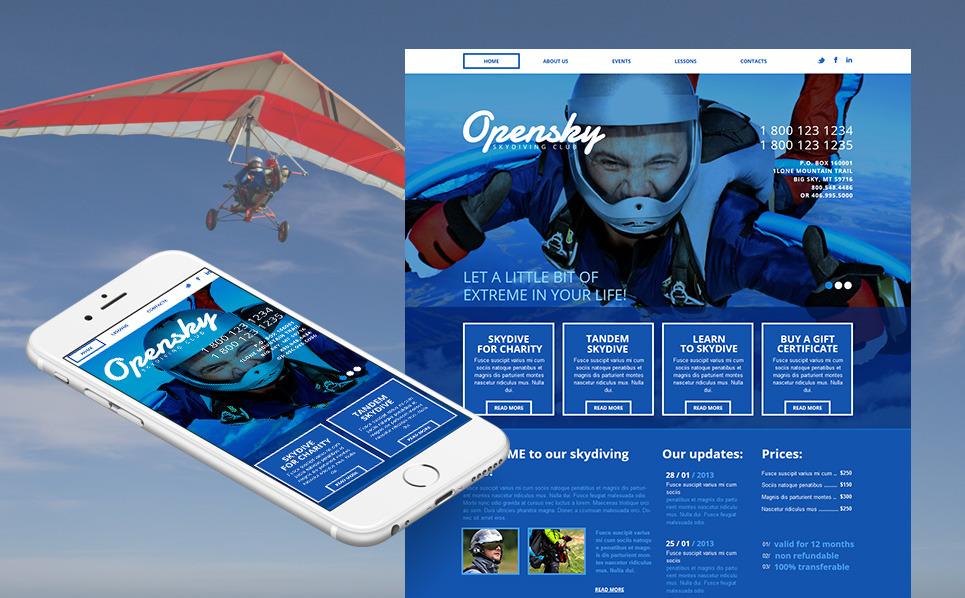 Moto CMS HTML Vorlage für Extremsportarten  New Screenshots BIG