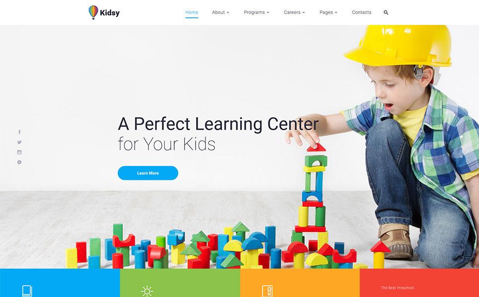 Адаптивний Шаблон сайтів на тему початкова школа New Screenshots BIG