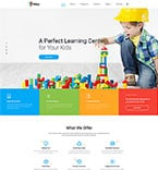 Education Website  Template 46779