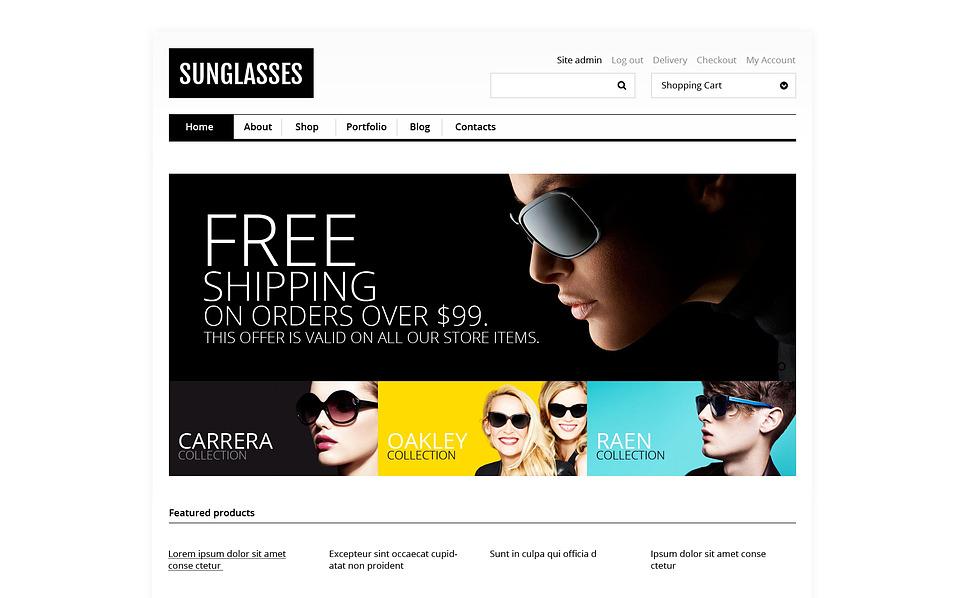 Responsywny motyw WooCommerce Responsywny sklep okularów przeciwsłonecznych #46796 New Screenshots BIG