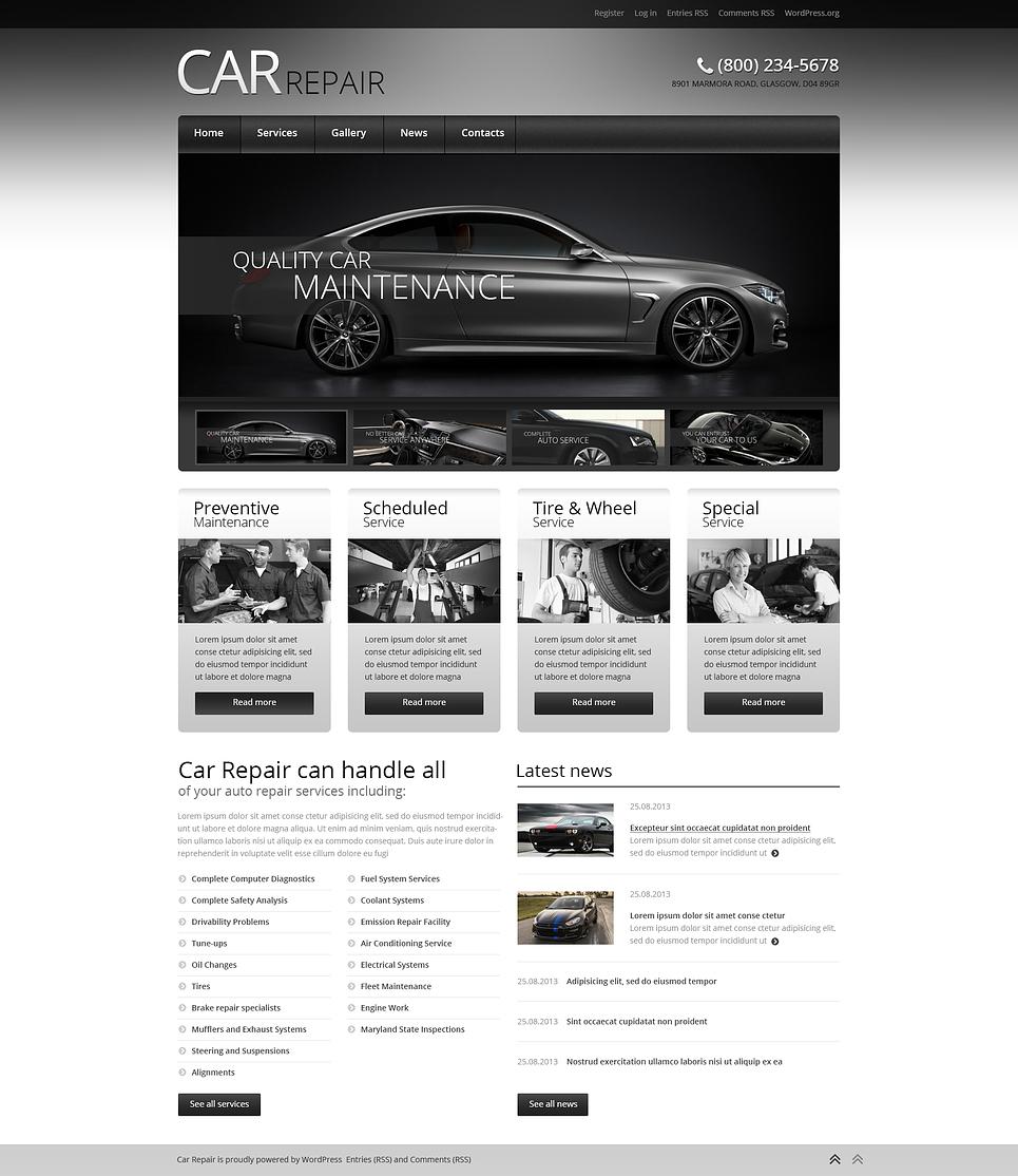 Адаптивный шаблон сайта на тему ремонт авто #46727