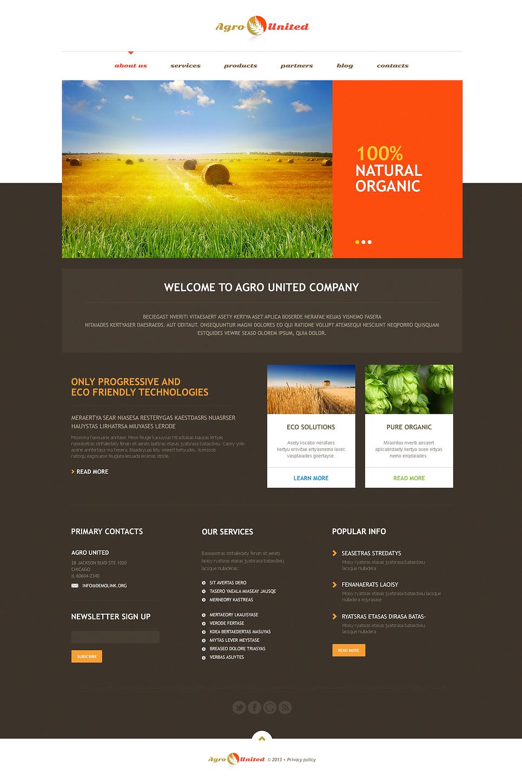 Адаптивный шаблон сайта на тему сельское хозяйство #46731