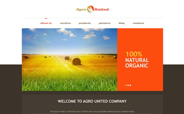 Agriculture to Impress WordPress Theme