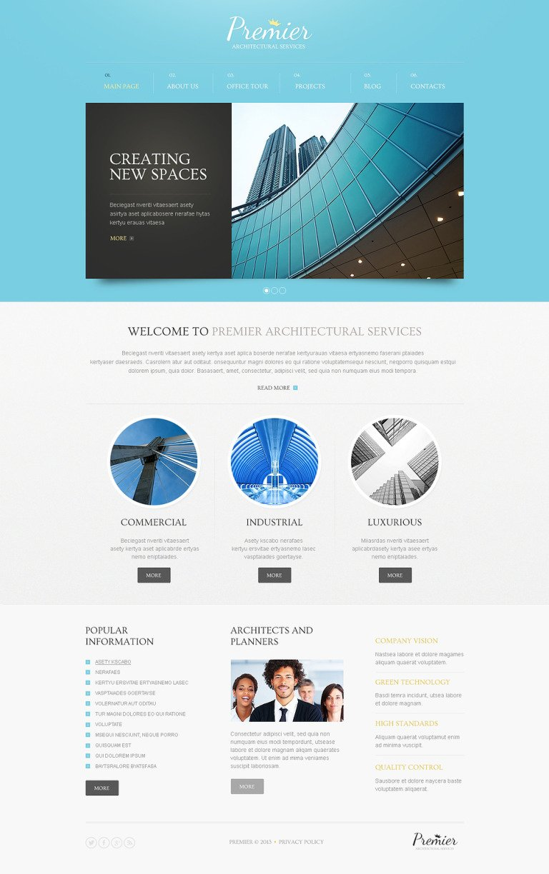 Architecture Solutions Drupal Template New Screenshots BIG