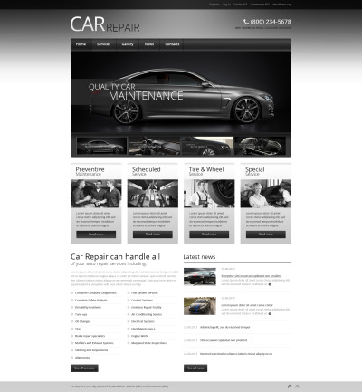 Flexível tema WordPress №46727 para Sites de Concerto de Carros