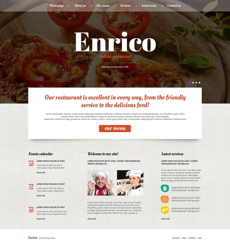 Catering Site Joomla Template New Screenshots BIG