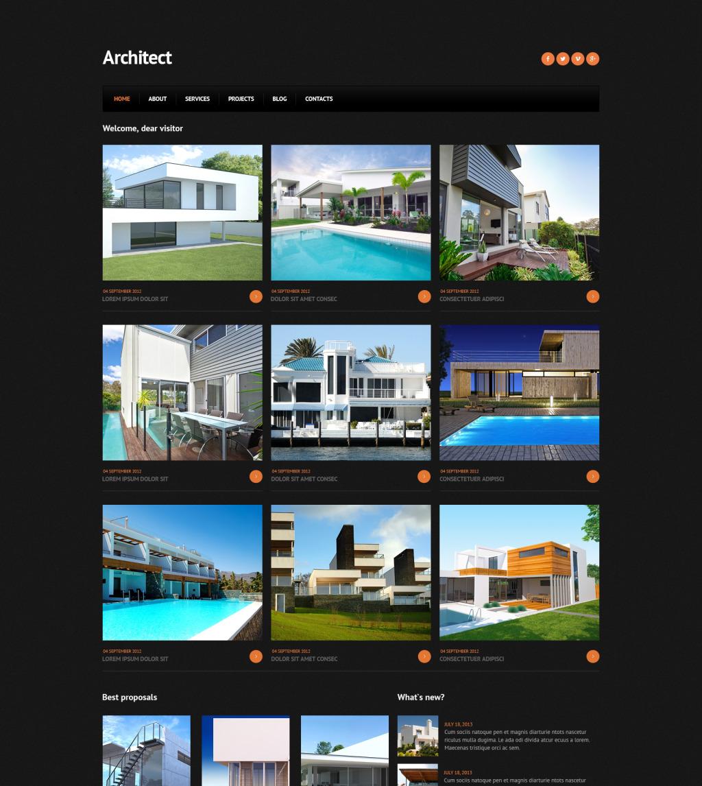Сайт строительной компании joomla компания silver официальный сайт