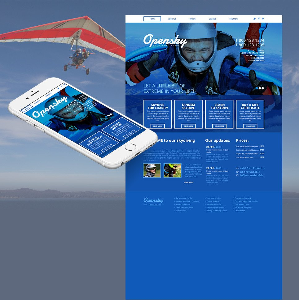 Extreme Sports Moto CMS HTML Template New Screenshots BIG