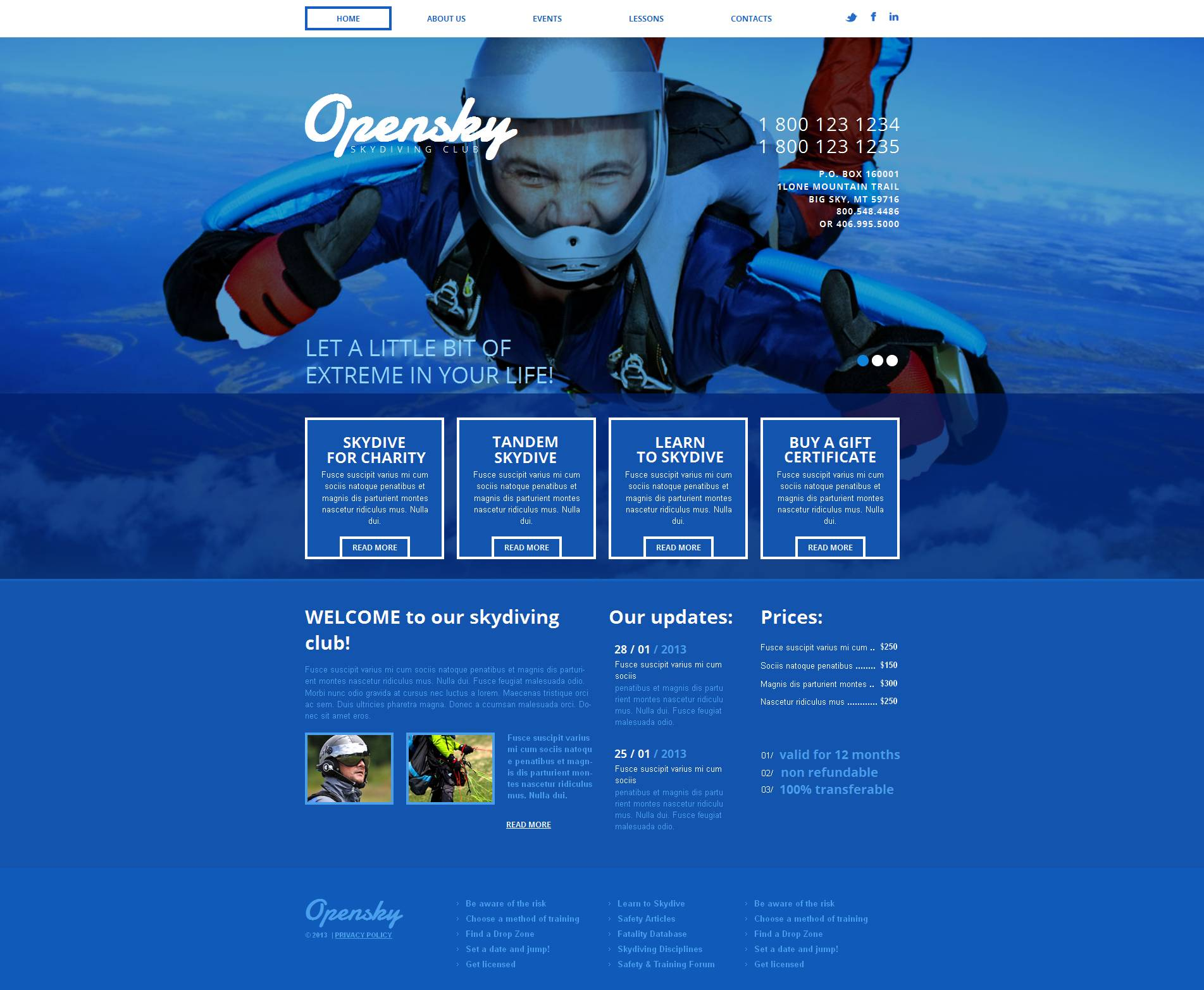 Extreme Sports Moto CMS HTML Template