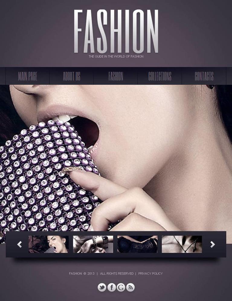 Fashion Blog Facebook HTML CMS Template New Screenshots BIG
