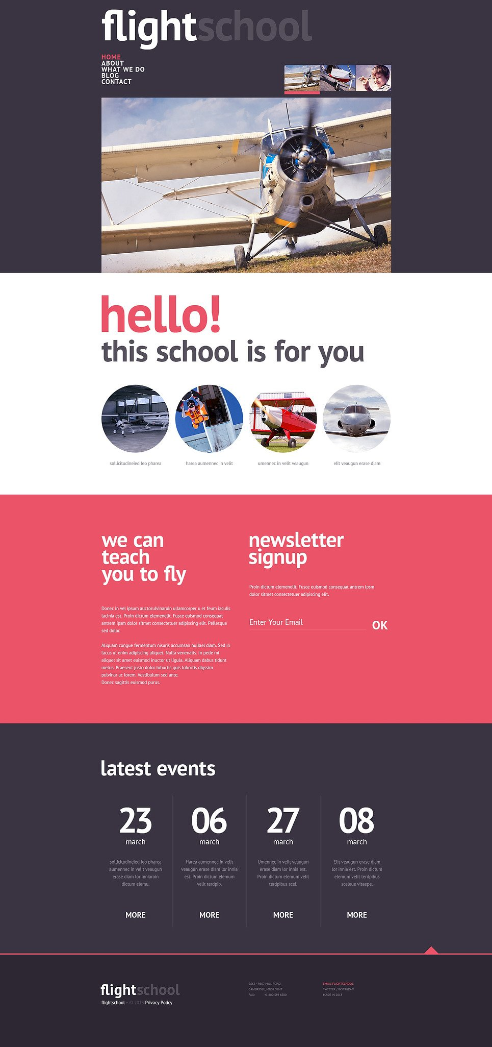 Flight School Responsive Website Template New Screenshots BIG