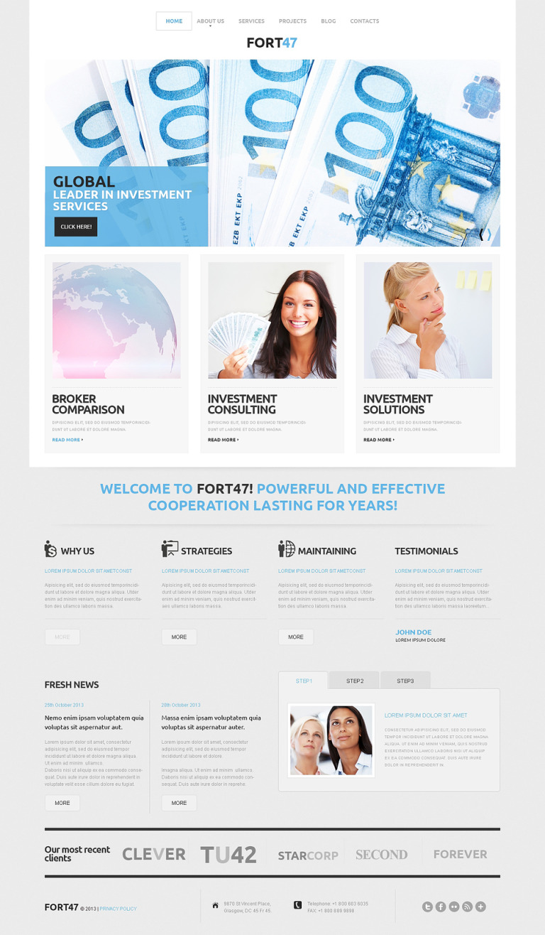 Investment Business WordPress Theme New Screenshots BIG