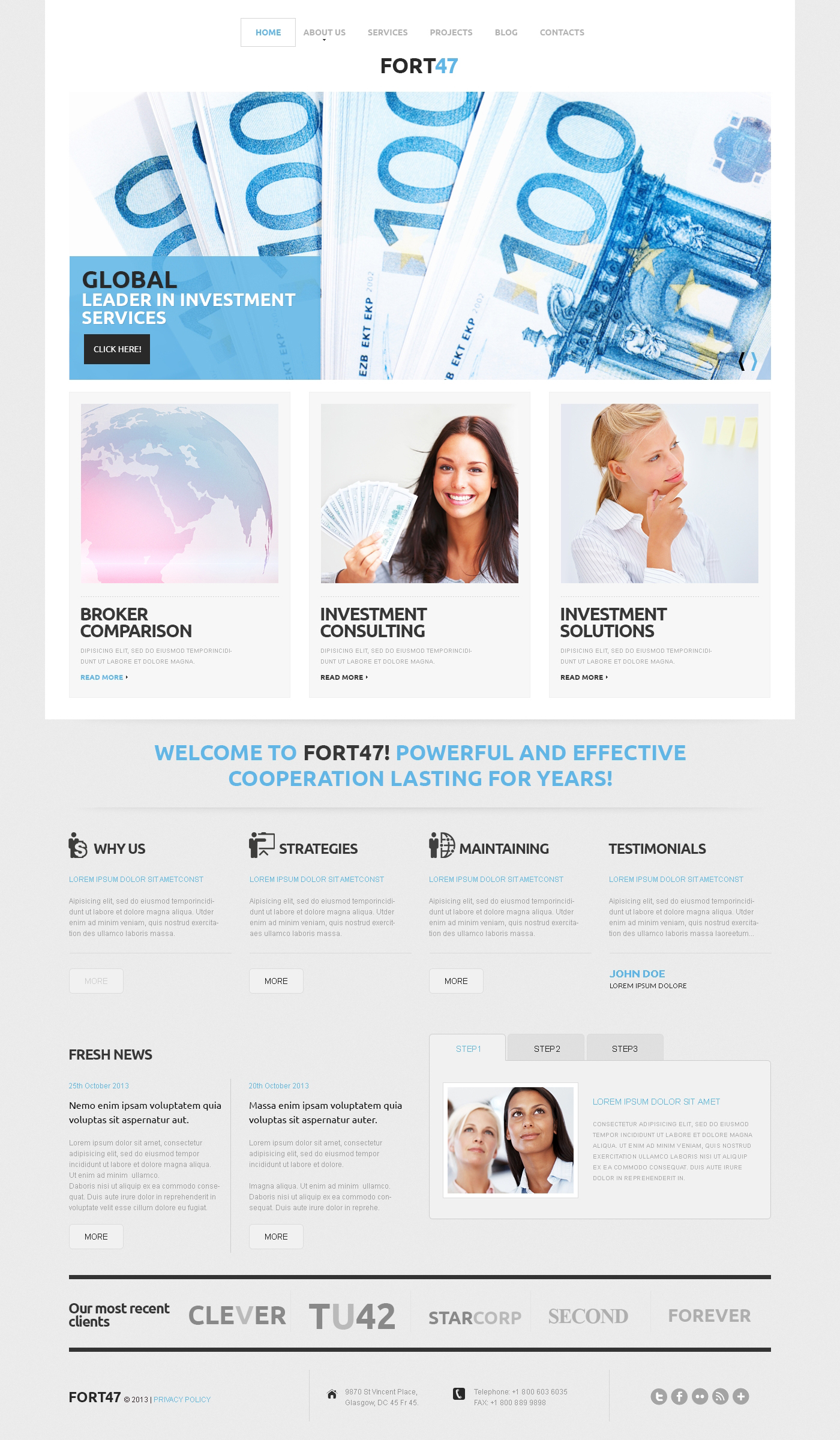 Investment Business WordPress Theme - screenshot