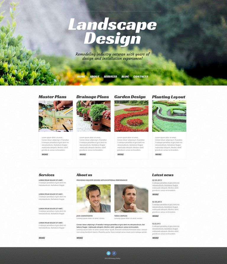 Landscape Design Alive WordPress Theme New Screenshots BIG
