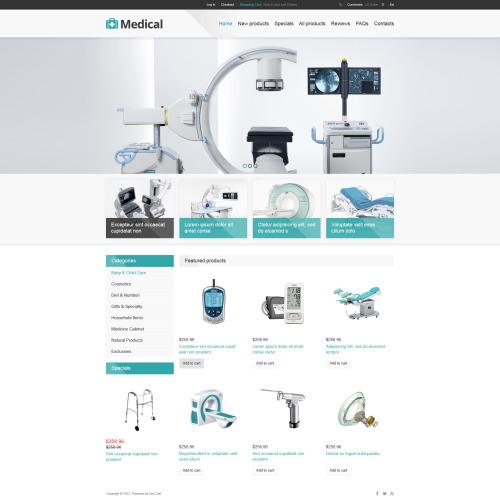 Medical - HTML5 ZenCart Template