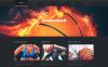 "Modello WordPress Responsive #46793 ""Basketball Put on Fire"" New Screenshots BIG"