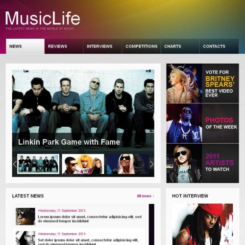 Music Life - Facebook HTML CMS Template