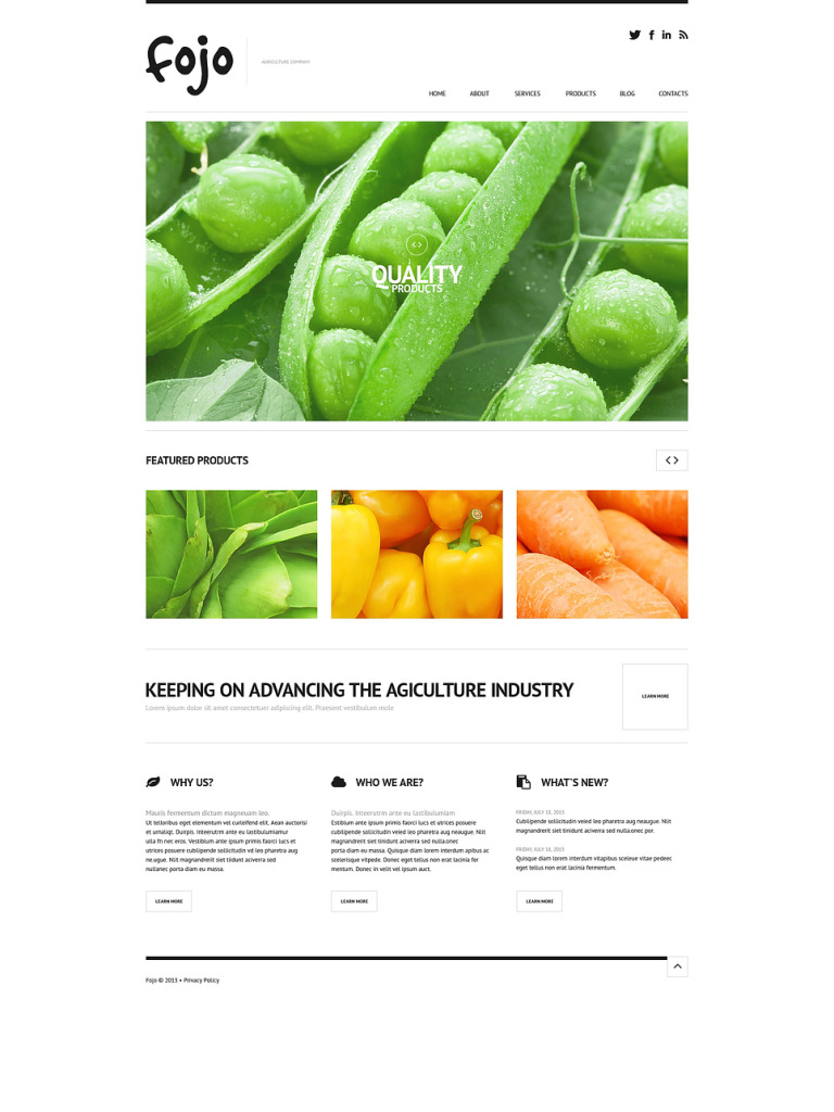 Organic Farming WordPress Theme New Screenshots BIG