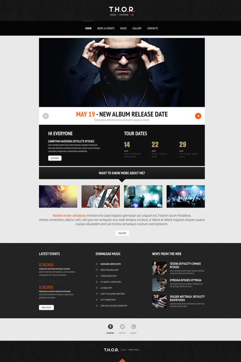 Original Singer WordPress Theme New Screenshots BIG