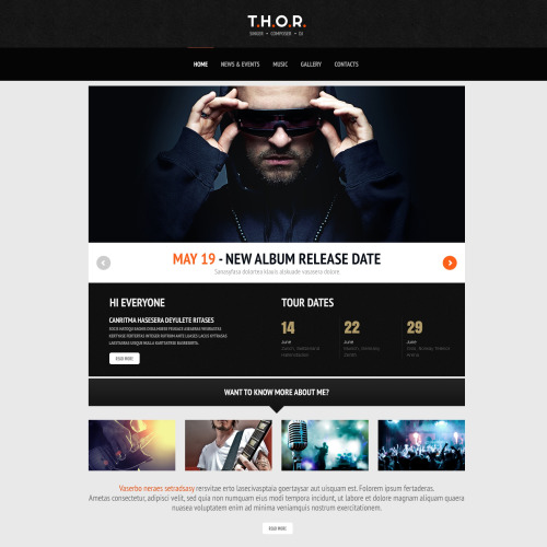 T.H.O.R - WordPress Template based on Bootstrap