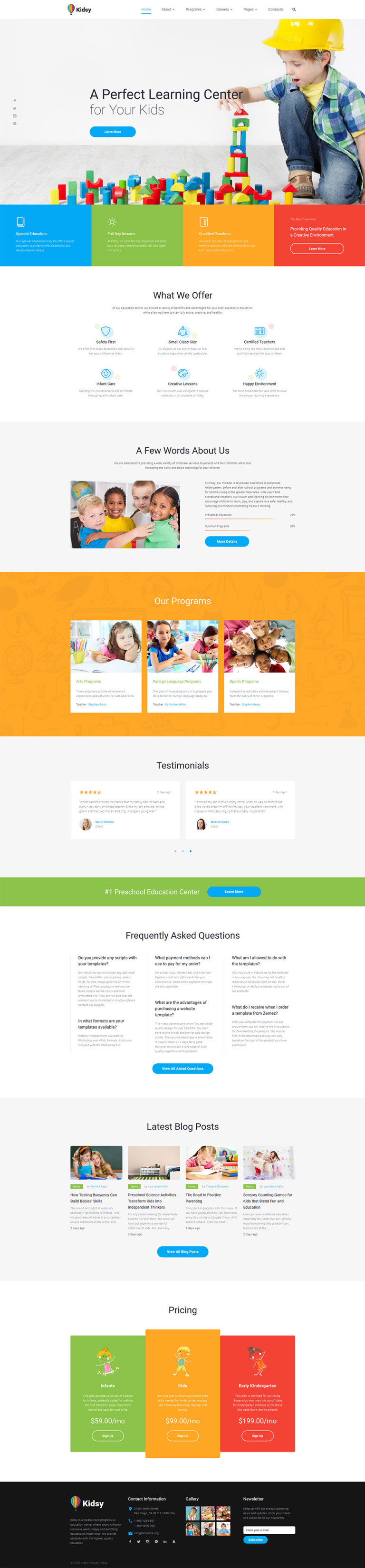 Primary School Responsive Website Template New Screenshots BIG