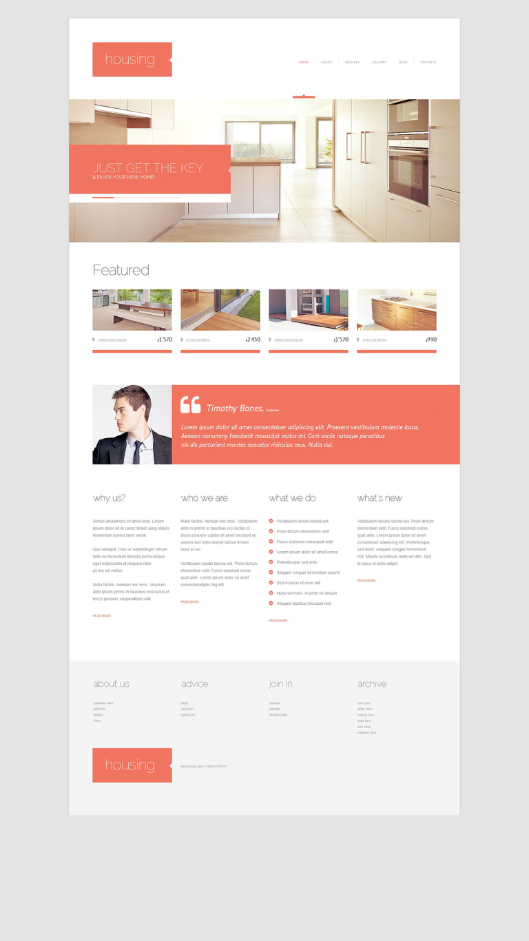 Renting Agency WordPress Theme New Screenshots BIG