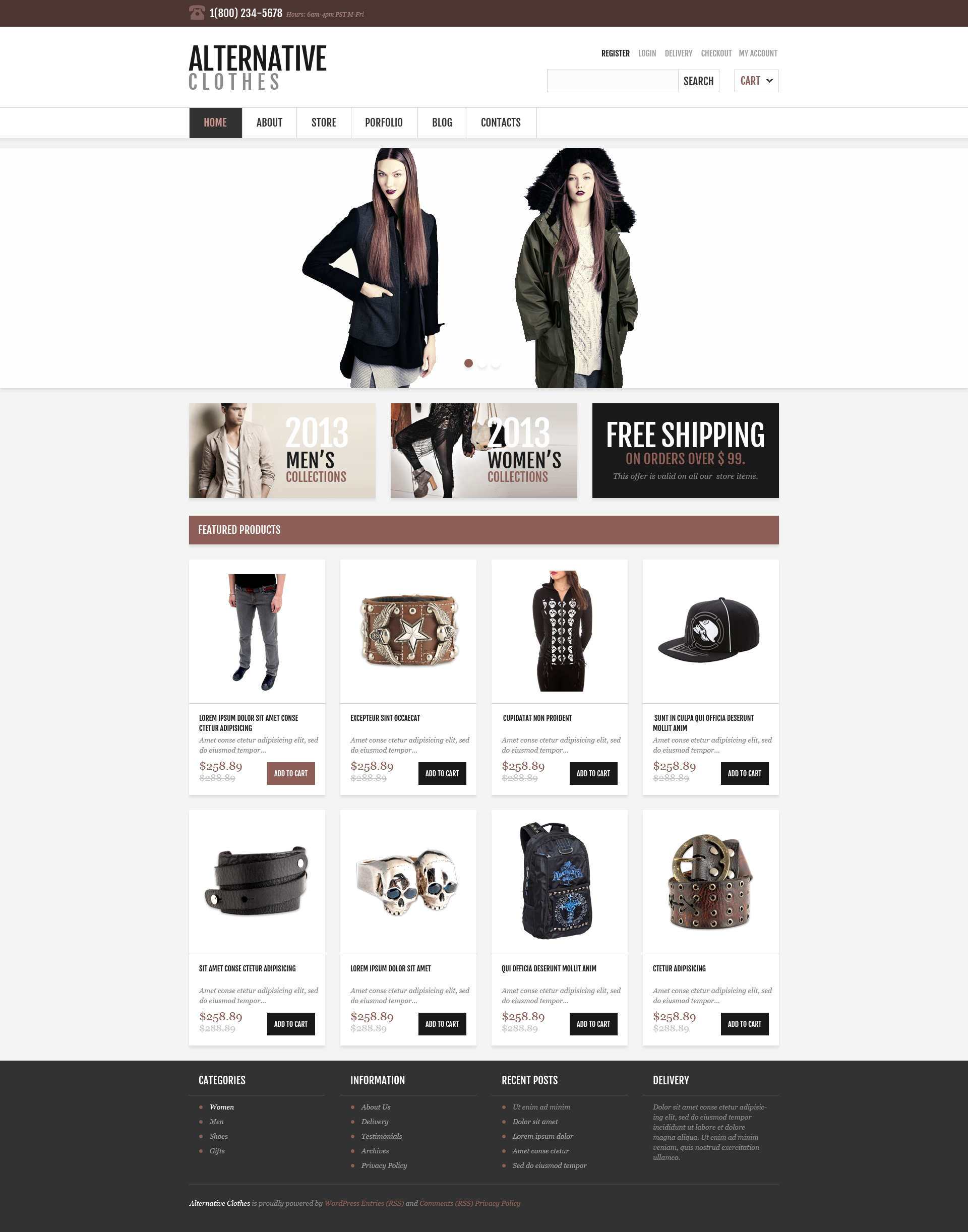 """Responsive Alternative Store"" thème WooCommerce adaptatif #46710"