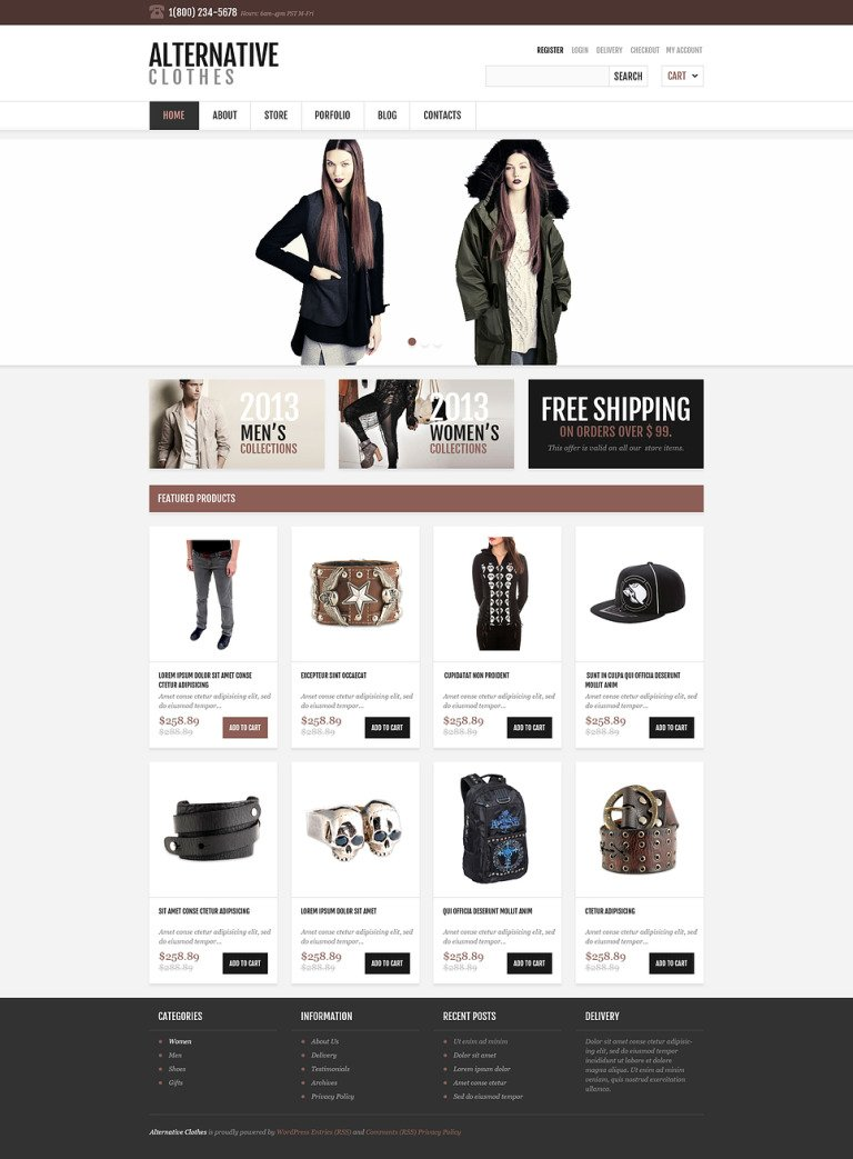 Responsive Alternative Store WooCommerce Theme New Screenshots BIG