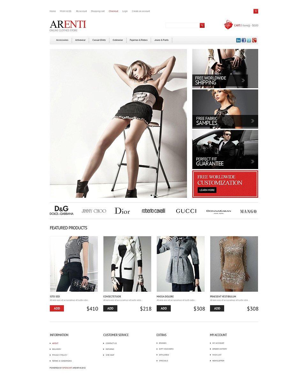 Responsive Clothes Store OpenCart Template New Screenshots BIG