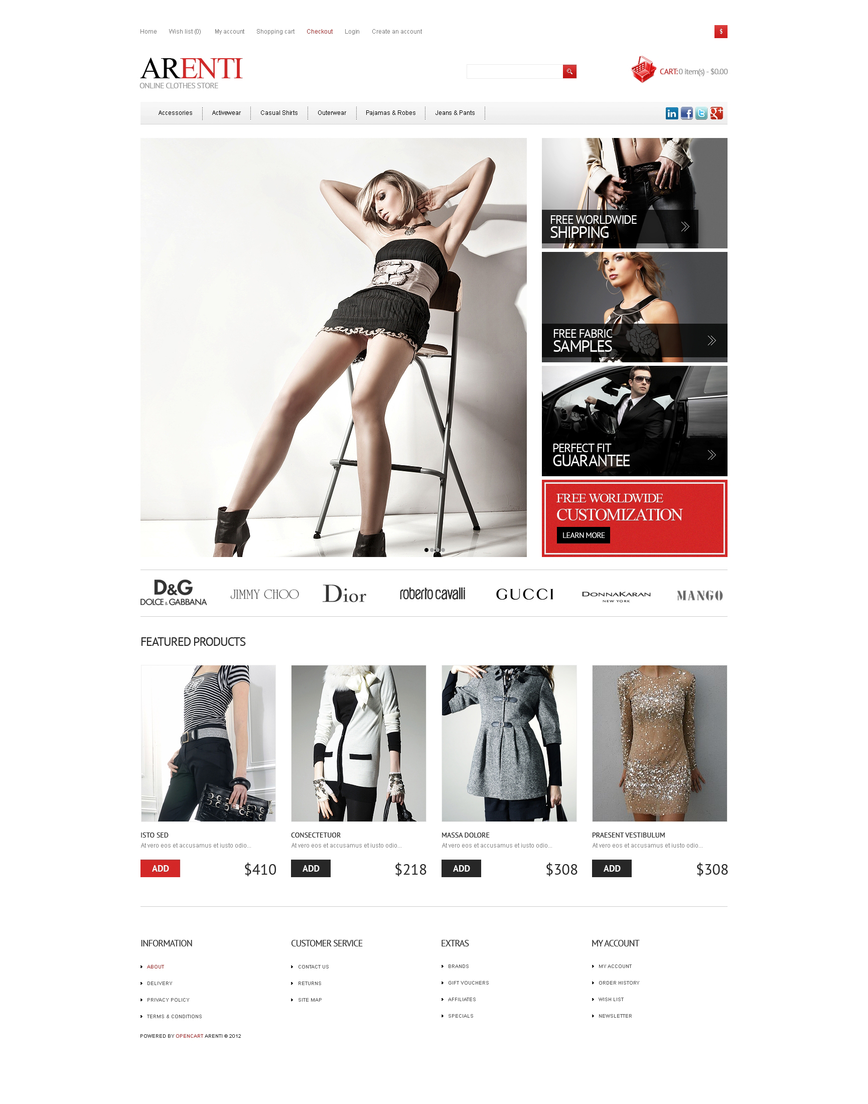 Responsive Clothes Store OpenCart Template