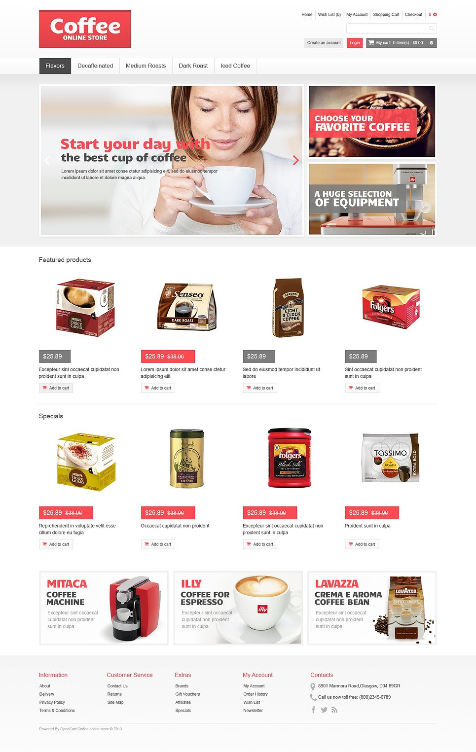 Responsive Coffee Store OpenCart Template New Screenshots BIG