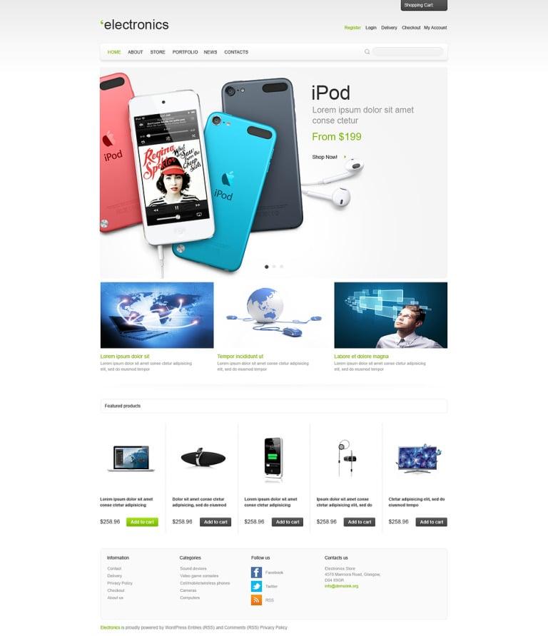Responsive Electronics Store WooCommerce Theme New Screenshots BIG
