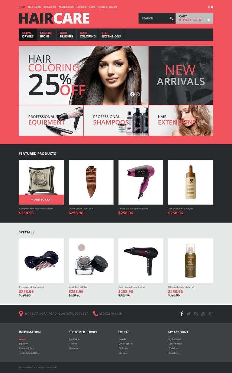 Responsive Hair Care Store OpenCart Template New Screenshots BIG