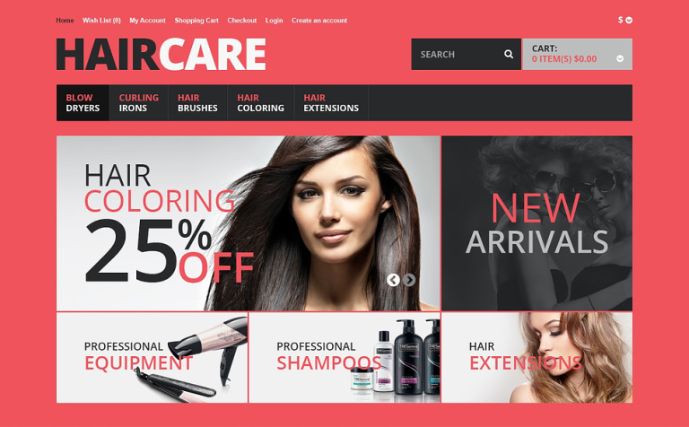 Responsive Hair Care Store OpenCart Template