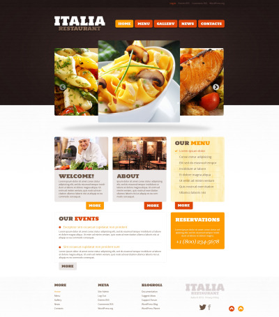 Spanish Restaurant Responsive WordPress Teması