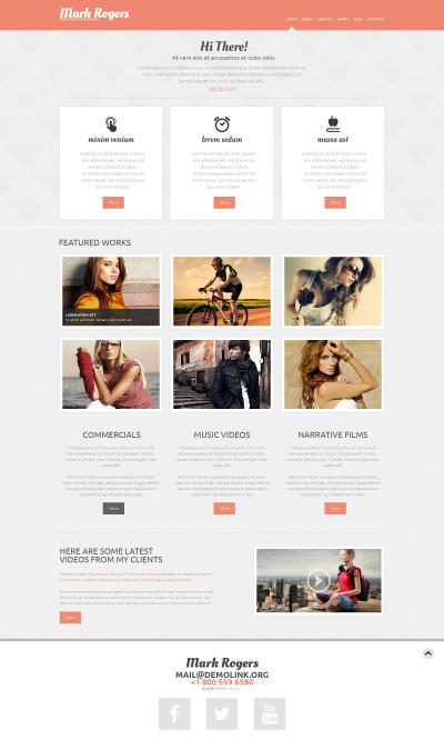 Responsywny motyw WordPress #46730 na temat: portfolio fotograficzne