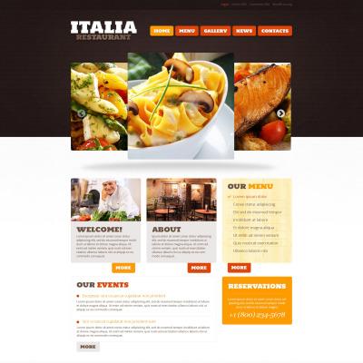 Responsywny motyw WordPress #46785 na temat: restauracja włoska