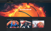 "Responzivní WordPress motiv ""Basketball Put on Fire"" New Screenshots BIG"