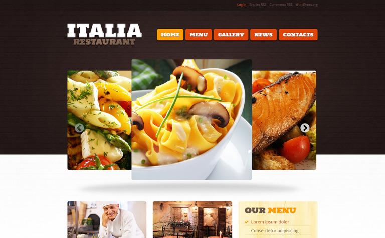 Restaurant of italian food wordpress theme 46785 restaurant of italian food wordpress theme new screenshots big toneelgroepblik Choice Image