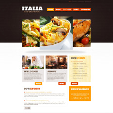 European Restaurant Free WP Theme - Restaurant template wordpress
