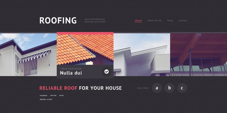 Roofing Company Website Template New Screenshots BIG