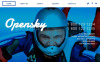 Skydiving Facebook HTML CMS Template New Screenshots BIG