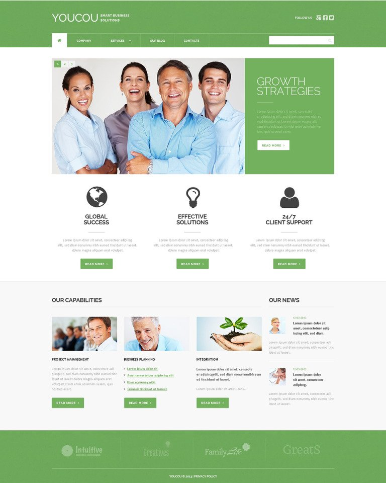 Solutions for Business WordPress Theme New Screenshots BIG