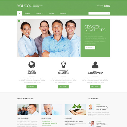 Youcou - WordPress Business Template based on Bootstrap