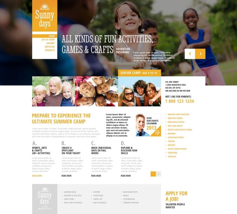 Summer Camp Responsive WordPress Theme New Screenshots BIG