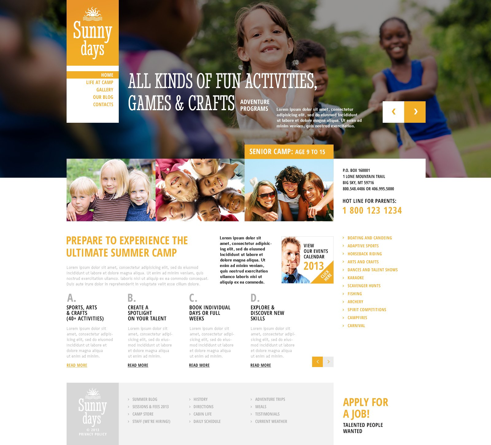 Summer Camp Responsive WordPress Theme